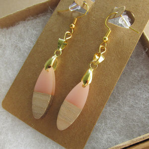 18K Gold Plated Multi Media Naturals Earrings